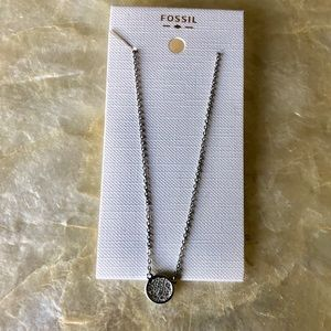 Fossil Silver Pave Necklace